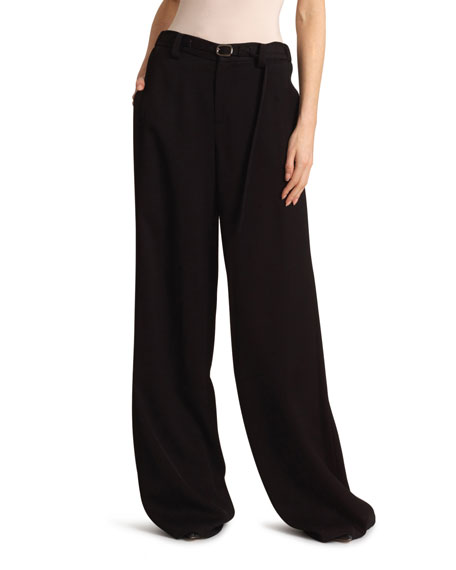 Image 3 of 3: Roland Mouret Aperol Honeycomb Viscose Trousers