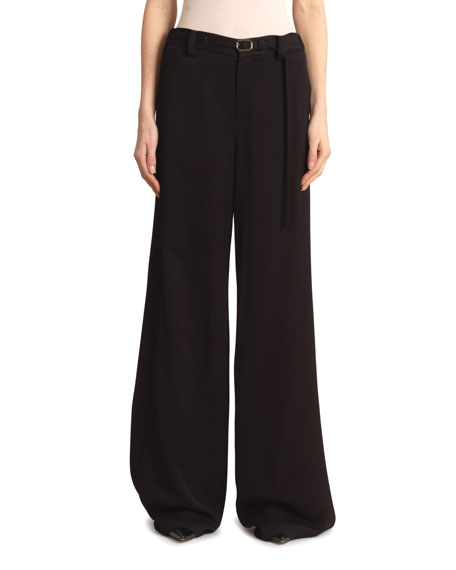 Image 1 of 3: Roland Mouret Aperol Honeycomb Viscose Trousers