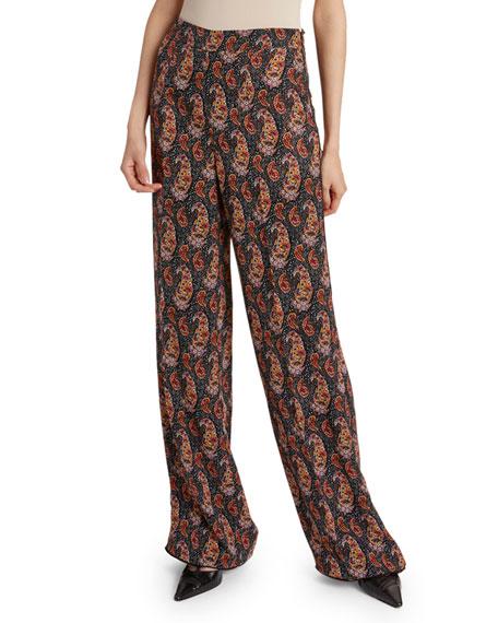 Altuzarra Paisley-Print Silk Pants