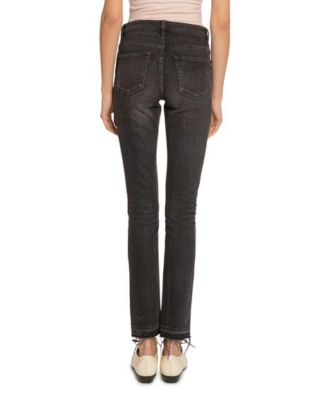Saint Laurent Mid-Rise Raw-Hem Skinny Jeans