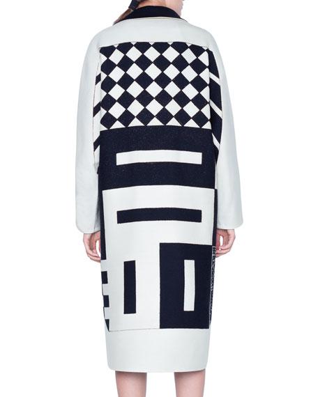 Akris Ellena Kaleidoscope-Print Coat