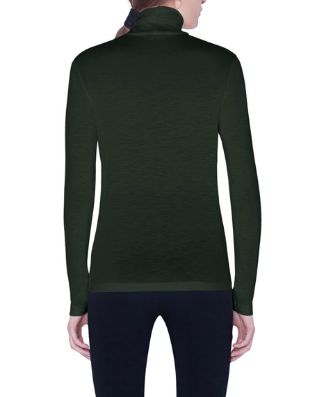 Akris Cashmere-Silk Rolled Turtleneck Sweater