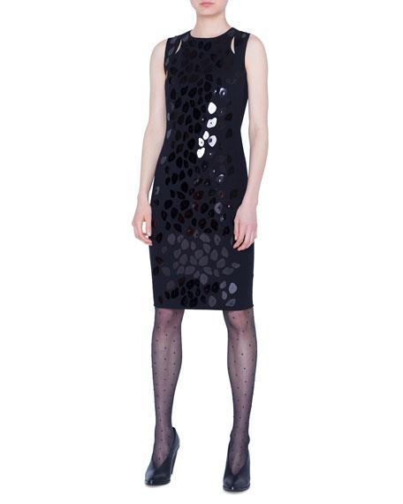 Akris punto Animal-Print Sequined Jersey Dress