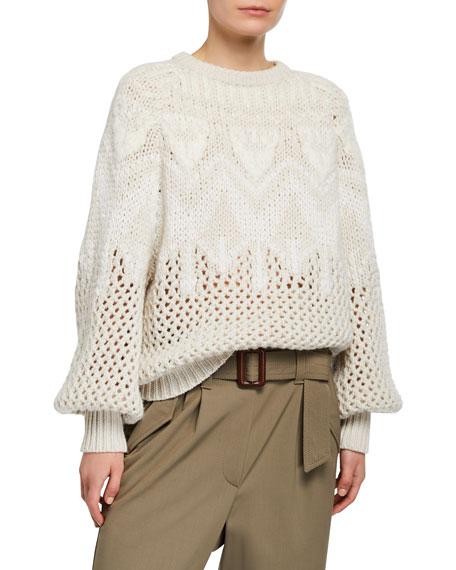 Brunello Cucinelli Cashmere Hand Opera-Knit Sweater