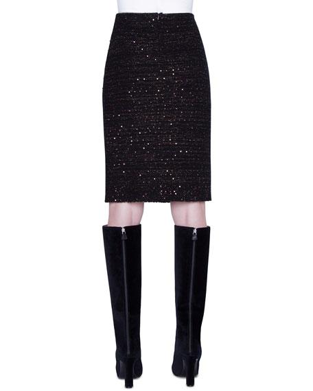 Akris Metallic Silk Sequined Skirt