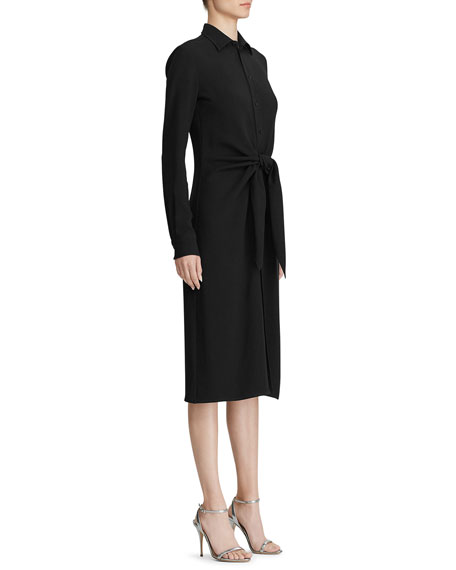 Ralph Lauren Collection Dinah Jersey Tie-Waist Shirtdress