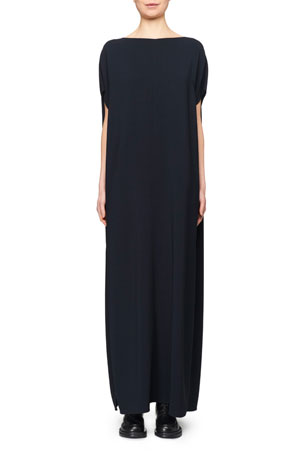 THE ROW Dunika Stretch Cady Boat-Neck Kaftan Dress