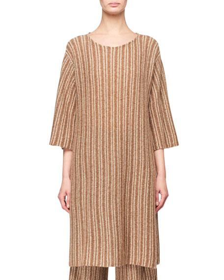 THE ROW Luana Long Merino/Cashmere Sweater