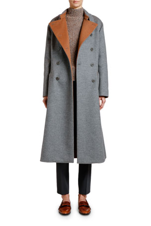 Giorgio Armani Double-Face Cashmere Coat