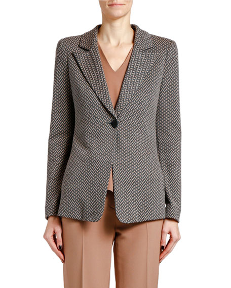 Giorgio Armani Multi-Print Button-Front Jacket
