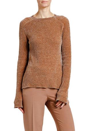 Giorgio Armani Chenille Ribbed Crewneck Sweater