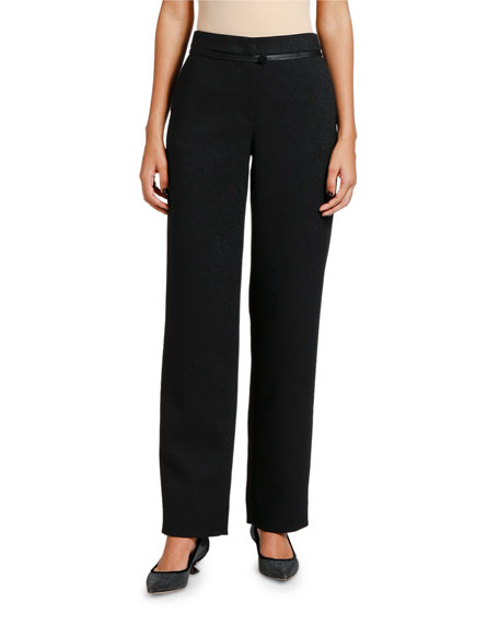 Giorgio Armani Satin-Piped Shimmer Classic Pants