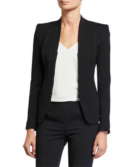 Giorgio Armani Textured Jersey Zip-Front Jacket