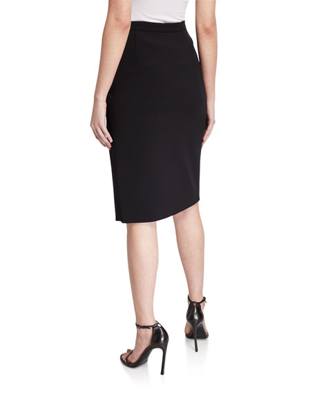 Altuzarra Lancaster Crepe Classic Side-Slit Skirt