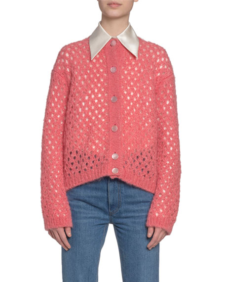 Marc Jacobs (Runway) Fishnet-Knit Button-Front Cardigan