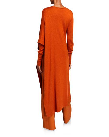 Oscar de la Renta Wool-Silk Tunic Sweater