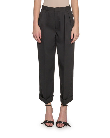 Marc Jacobs (Runway) Folded-Cuff Pleated Pants