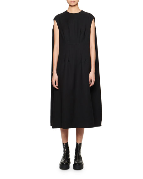 THE ROW Isandra Cape-Back Shift Dress