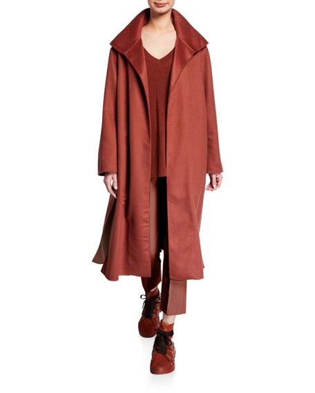 Agnona Cashmere Wrapped Neck Coat