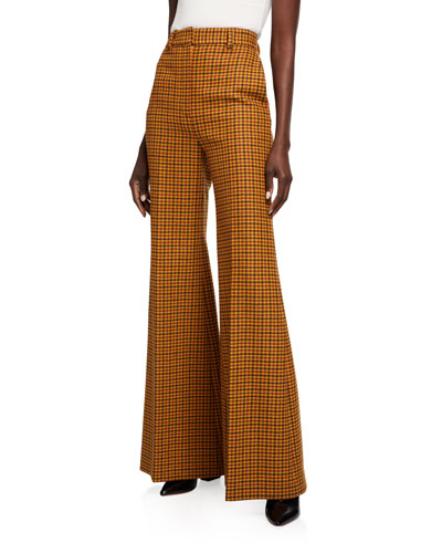 Bernadette Gingham Wide-Leg Pants