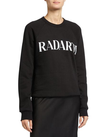 Rodarte Oveersized Radarte Font Sweatshirt