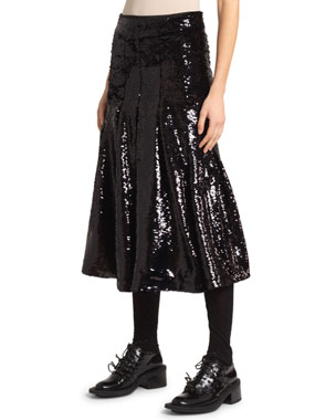 e2db1ea8fe Simone Rocha Sequined Pleated Skirt