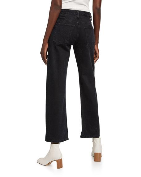 Khaite Vivian Boot-Cut Flare-Sleeve Jeans