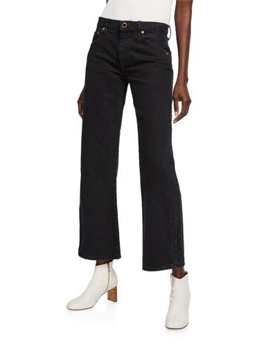 Vivian Boot-Cut Flare-Sleeve Jeans