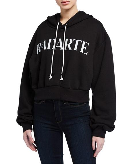 Rodarte Hooded Crop Sweatshirt