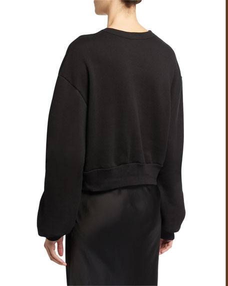 Rodarte Radarte Font Sweatshirt, Black