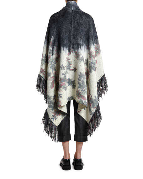 Antonio Marras Fringed Floral Jacquard Sweater