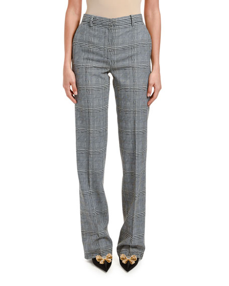 Versace High-Rise Prince of Wales Pants