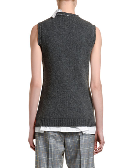 Marni Patchwork Sweater Vest