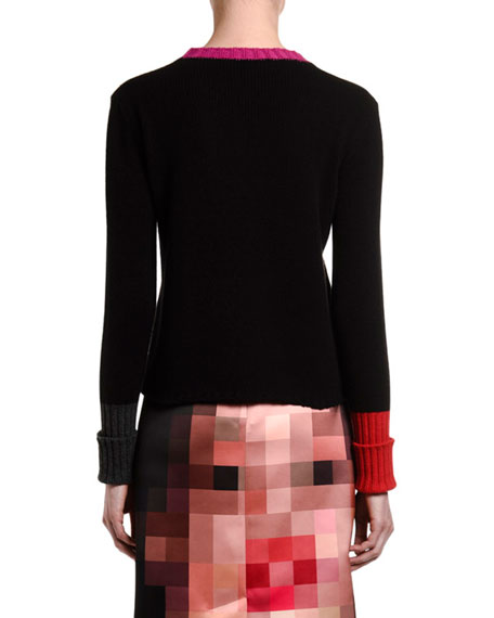 Image 2 of 2: Marni Cashmere Contrast-Trim Sweater