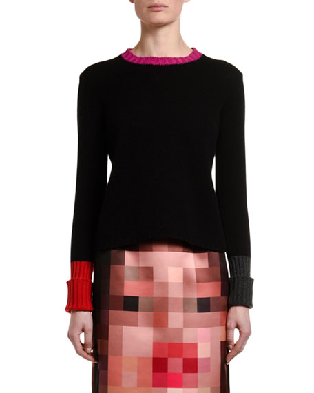Image 1 of 2: Marni Cashmere Contrast-Trim Sweater