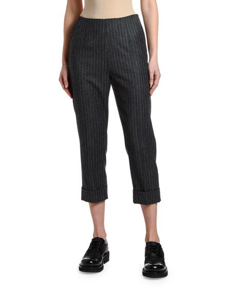 Antonio Marras Pinstriped Wool Crop Pants