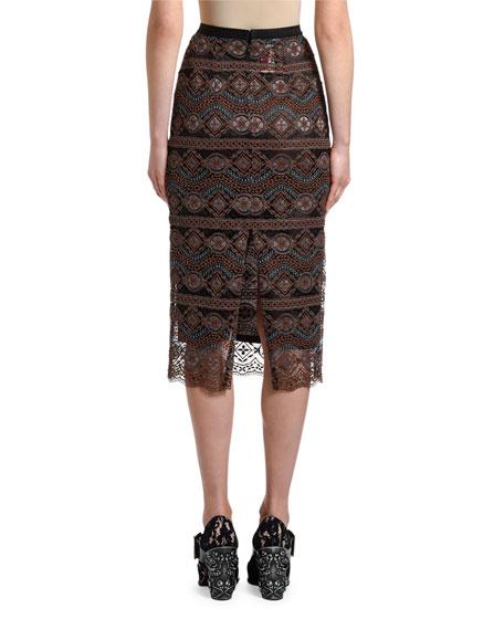 Antonio Marras Lace Slim Calf-Length Midi Skirt