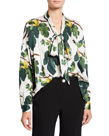 Image 1 of 2: Libertine Figgy Pudding Tie-Neck Blouse