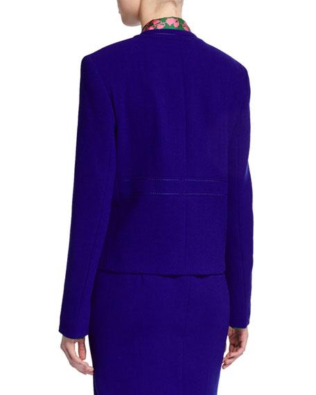 Escada Bera Wool Snap-Front Jacket