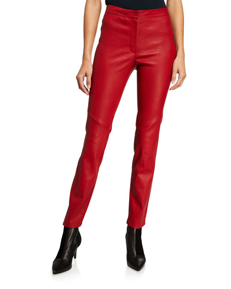 Escada Lakera Leather Slim Pants
