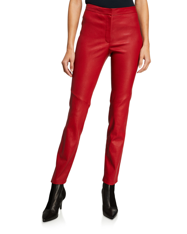 Lakera Leather Slim Pants by Escada