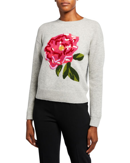Escada Soffa Peona Wool-Cashmere Sweater