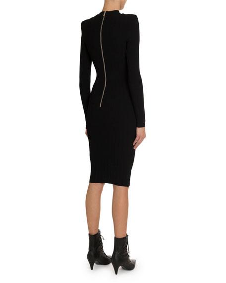 Balmain Cutout-Knit Midi Dress