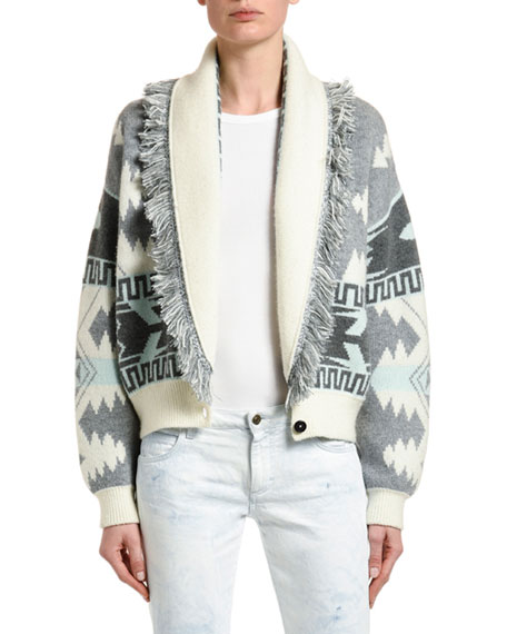 Alanui Icon Jacquard Bomber Sweater