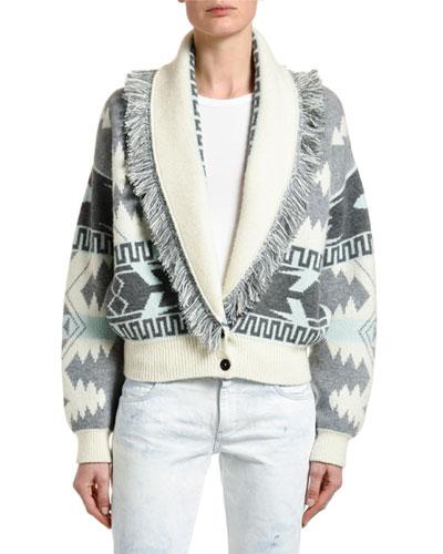 Icon Jacquard Bomber Sweater