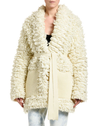Knitted Stitched Coat