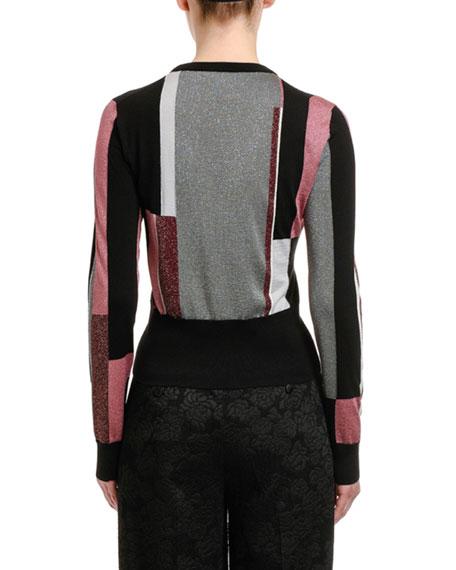 Dolce & Gabbana Face Shimmer Knit Sweater