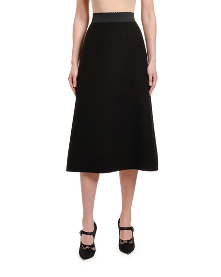 Dolce & Gabbana Double-Crepe Skirt