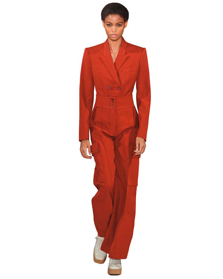 Stella McCartney High-Rise Cargo Pants