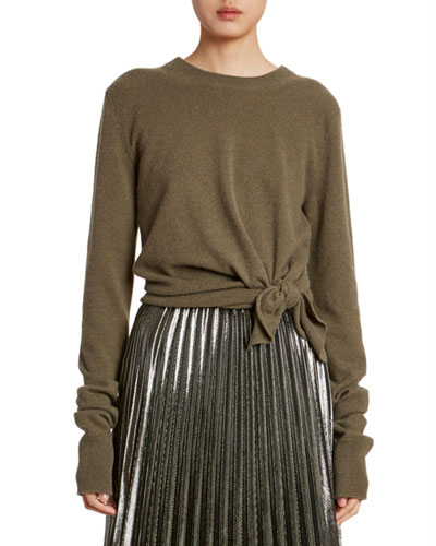 Cashmere Knotted Crewneck Sweater